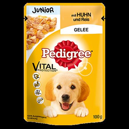 PEDIGREE® Frischebeutel Junior mit Huhn und Reis in Gelee