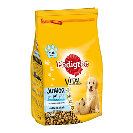 PEDIGREE® Complete Junior mit Huhn & Reis