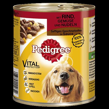 PEDIGREE® Dose Adult mit Rind, Gemüse und Nudeln