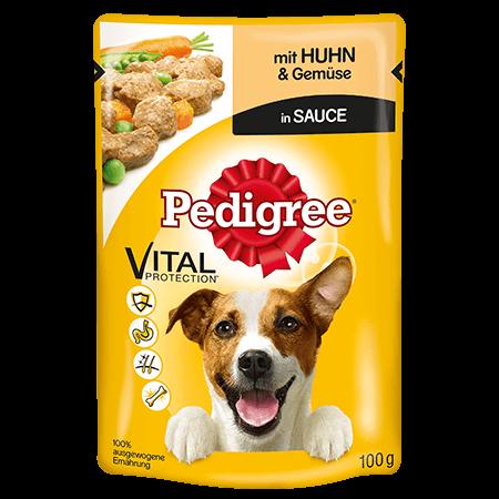 PEDIGREE® Frischebeutel Adult mit Huhn und Gemüse in Sauce