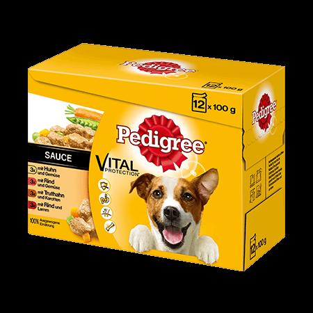 PEDIGREE® Frischebeutel Adult 12er Pack mit Huhn und Gemüse in Sauce