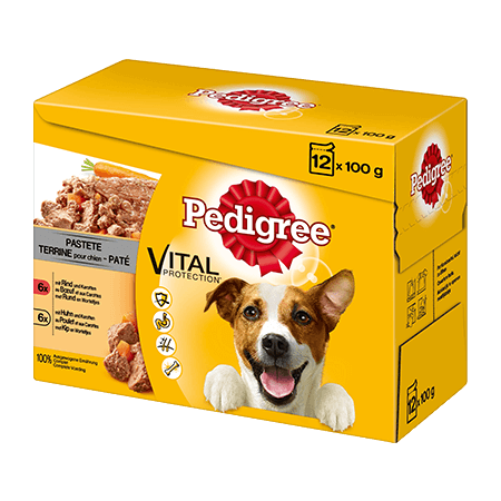 PEDIGREE® Frischebeutel Adult 12er Pack mit Rind in Gelee