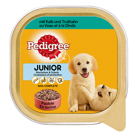 PEDIGREE® Schale Junior mit Kalb und Truthahn