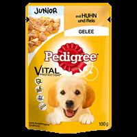 Pedigree Frischebeutel Junior mit Huhn und Reis in Gelee