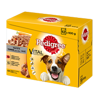 Pedigree Frischebeutel Adult 12er Pack mit Rind in Gelee
