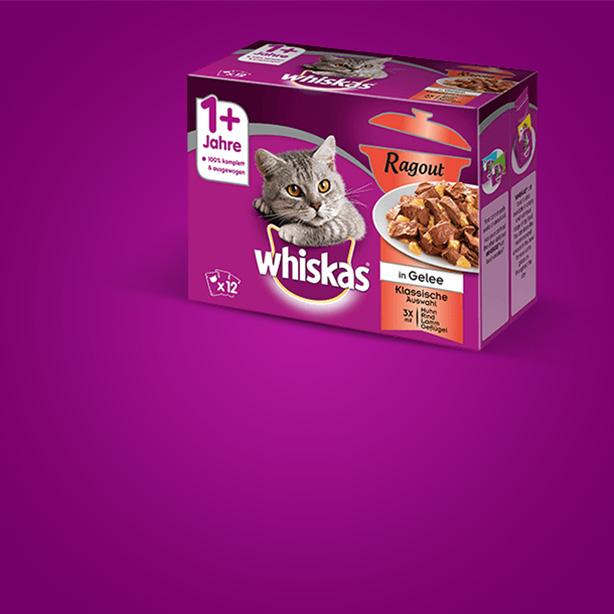 >Herzhaft köstlich: Whiskas® Ragout