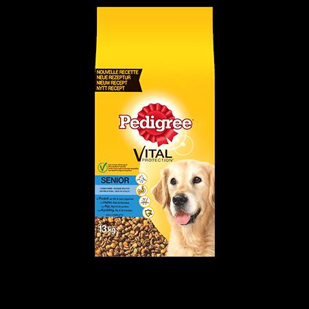 PEDIGREE<sup>®</sup> brokjes met kip voor senior honden 13kg