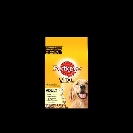 PEDIGREE<sup>®</sup> brokjes met kip voor volwassen honden 10kg