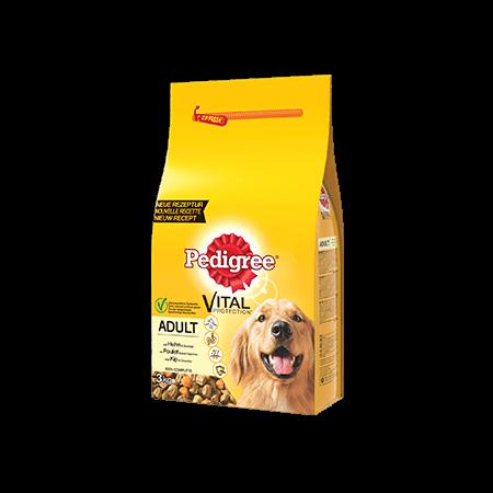 PEDIGREE<sup>®</sup> brokjes met kip voor volwassen honden 3kg