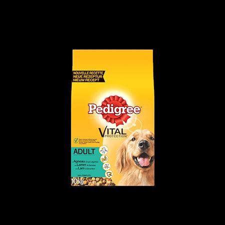 PEDIGREE<sup>®</sup> brokjes met lamsvlees voor volwassen honden 10kg