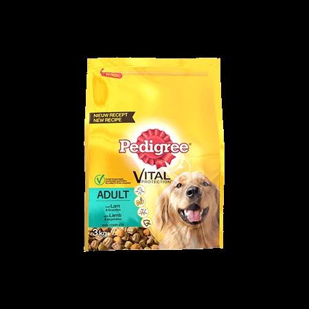 PEDIGREE<sup>®</sup> brokjes met lamsvlees voor volwassen honden 3 kg
