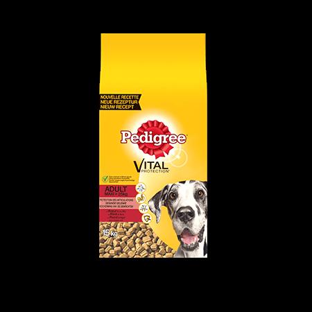 PEDIGREE<sup>®</sup> brokjes met rund voor Maxi honden adult 15kg