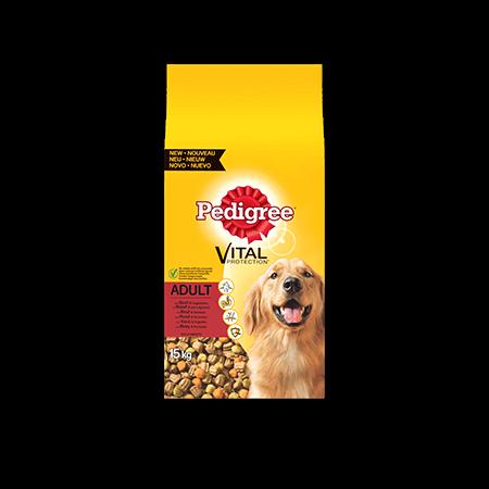 PEDIGREE<sup>®</sup> brokjes met rund voor volwassen honden 15kg