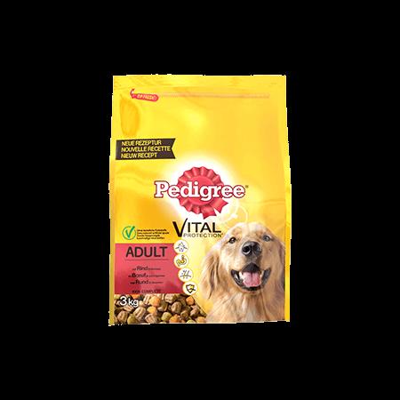 PEDIGREE<sup>&#174;</sup> brokjes met rund voor volwassen honden 3kg