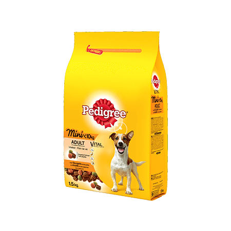 PEDIGREE<sup>&#174;</sup> brokjes mini hond <10kg met gevogelte 1,5kg