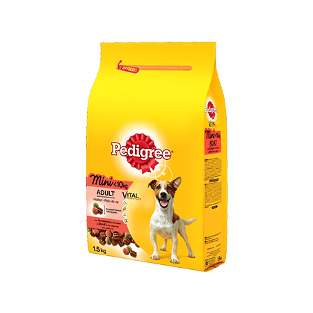 PEDIGREE<sup>&#174;</sup> brokjes mini hond <10kg met rund 1,5kg