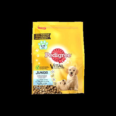 PEDIGREE<sup>&#174;</sup> met kip en rijst voor junior honden 3kg