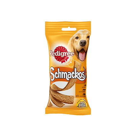PEDIGREE<sup>®</sup> SCHMACKOS met Kip 12 sticks