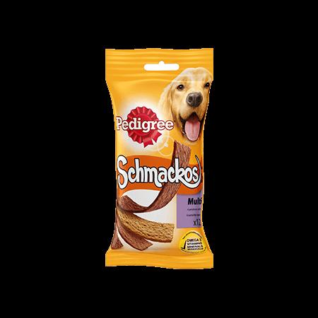 PEDIGREE<sup>&#174;</sup> SCHMACKOS multi 4 overheerlijke smaken 12 sticks
