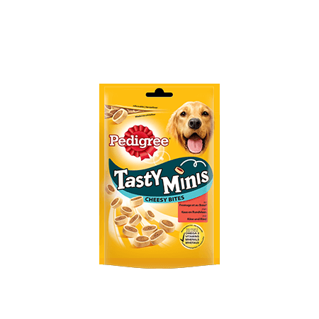 PEDIGREE<sup>®</sup> Tasty Mini's Cheesy Bites 140g