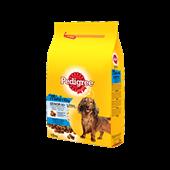 Pedigree brokjes  speciaal voor kleine honden <10kg  met Gevogelte, rijst en groenten voor senior honden 1,5kg