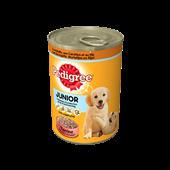 Pedigree Terrine met Gevogelte, Worteltjes en Rijst voor Junior honden 405g