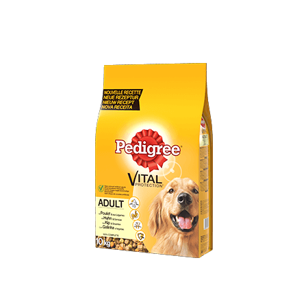 PEDIGREE<sup>&#174;</sup> croquettes à la volaille pour chien adulte 10kg