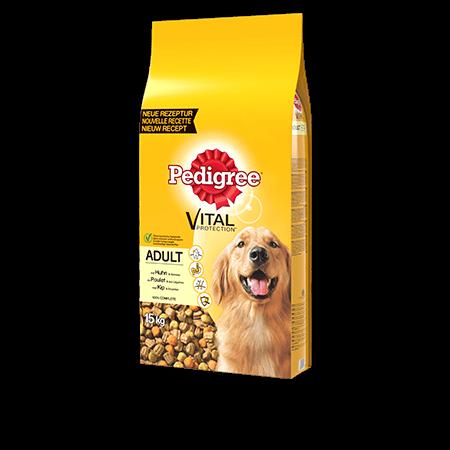 PEDIGREE<sup>®</sup> croquettes à la volaille pour chien adulte 15kg