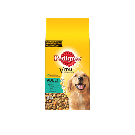 PEDIGREE<sup>®</sup> croquettes à l'Agneau pour chien adulte 15kg