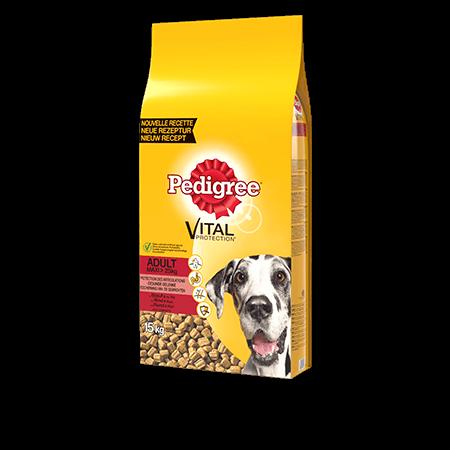 PEDIGREE<sup>®</sup> croquettes au bœuf pour grand chien adulte 15kg