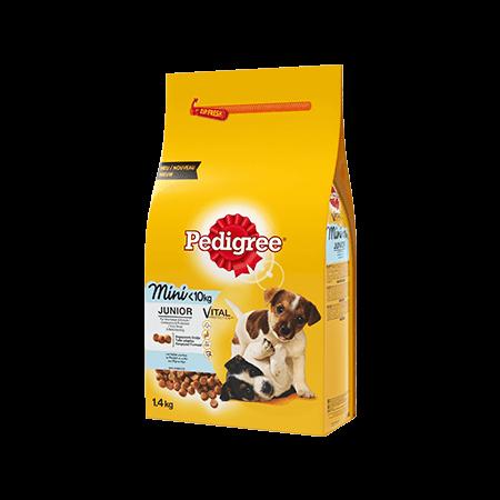 PEDIGREE<sup>®</sup> croquettes au poulet et au riz pour petit chien junior 1,4kg