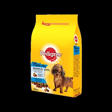 PEDIGREE<sup>®</sup> croquettes spéciales Mini chien <10kg  à la Volaille, au Riz et aux légumes pour chien senior 1,5kg