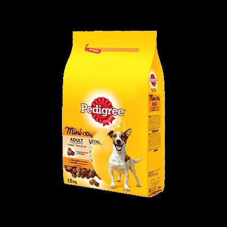 PEDIGREE<sup>®</sup> croquettes spéciales Mini chien <10kg à la Vollaile 1,5kg