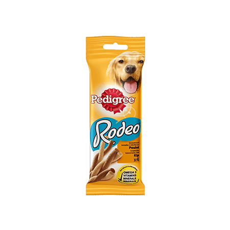 PEDIGREE<sup>®</sup> RODEO Au Poulet 4 sticks 70g
