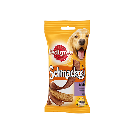 PEDIGREE<sup>®</sup> Schmackos multi 4 saveurs 12 sticks 104g