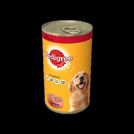 PEDIGREE<sup>®</sup> Terrines pour Chien Au Bœuf 1250g