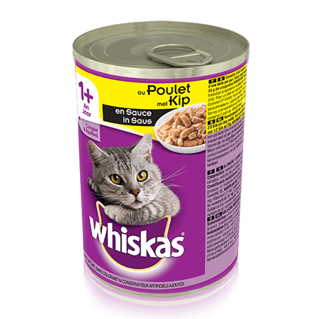 WHISKAS  Can met Kip in Saus 400g