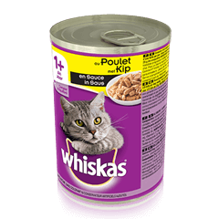 WHISKAS®  Can met Kip in Saus 400g