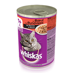 WHISKAS®  Can met Rundvlees in Saus 400g
