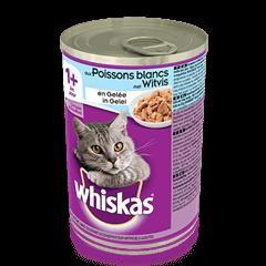 WHISKAS®  Can met Witvis in Gelei 390g
