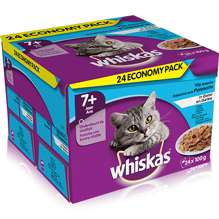 WHISKAS Pouch in Jelly Fish Selection 24x100g