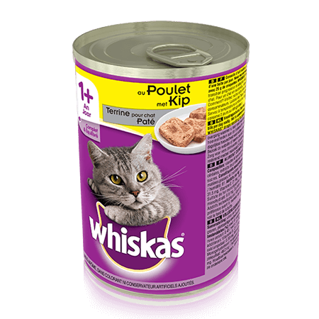 WHISKAS Can Terrine pour chat - au Poulet 400g