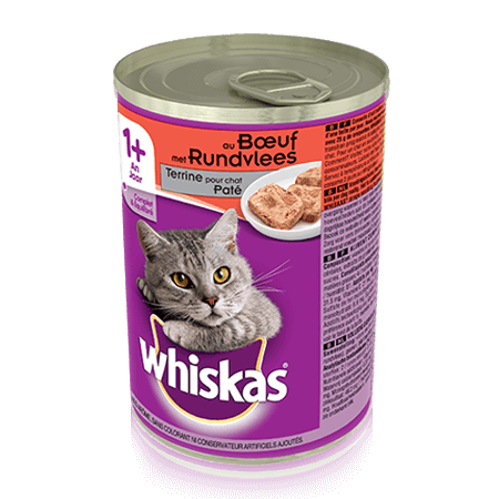 WHISKAS Can Terrine pour chat - au Boeuf 400g