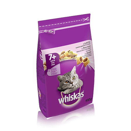 WHISKAS Senior Dry au Saumon 950g