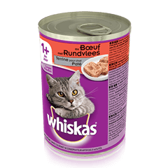 WHISKAS® Can Terrine pour chat - au Boeuf 400g