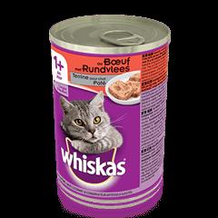 WHISKAS® Can Terrine pour chat - au Boeuf 400g