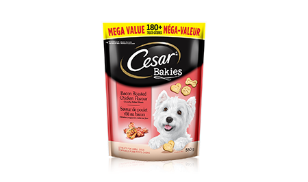 CESAR® BAKIESTM Bacon-roasted Chicken Flavour 550g