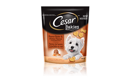 CESAR® BAKIES™ PEANUT BUTTER & HONEY  FLAVOUR 180g