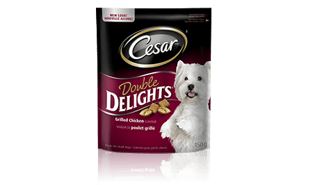 CESAR® DOUBLE DELIGHTS® TREATS: GRILLED CHICKEN FLAVOUR 150g