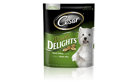 CESAR® DOUBLE DELIGHTS™ TREATS: ROAST TURKEY FLAVOUR 150g